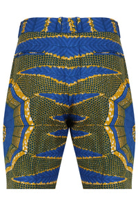 Men's African print fitted shorts-Jamie Love Web