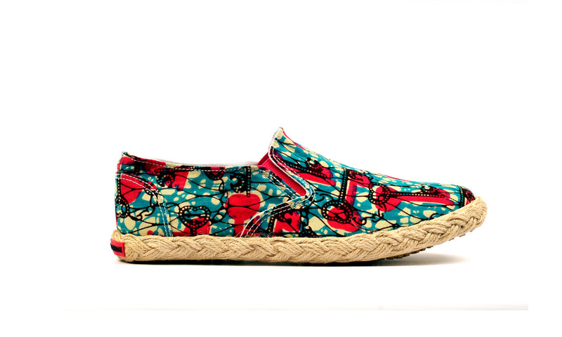 Patterned Espadrille-Oh! Sam Keys - OHEMA OHENE AFRICAN INSPIRED FASHION  - 1