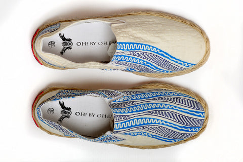 Patterned Espadrille-Pencil