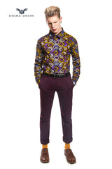 Men's African print shirt-Geox - OHEMA OHENE AFRICAN INSPIRED FASHION  - 3