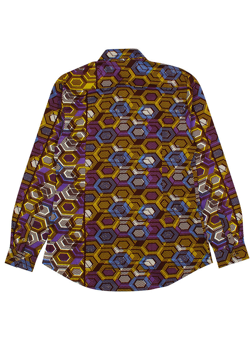 Men's African print shirt-Geox - OHEMA OHENE AFRICAN INSPIRED FASHION  - 2