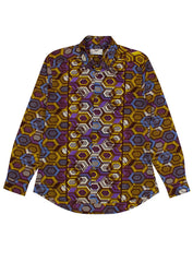 Men's African print shirt-Geox - OHEMA OHENE AFRICAN INSPIRED FASHION  - 1