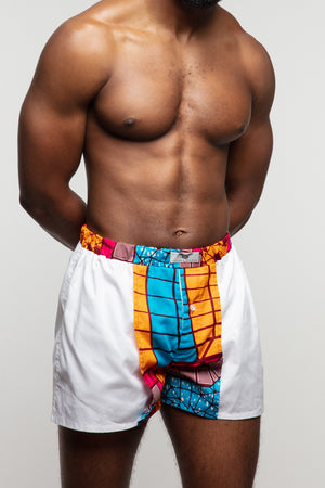 African print boxer shorts