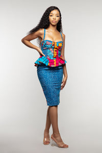 African print bodycon dress
