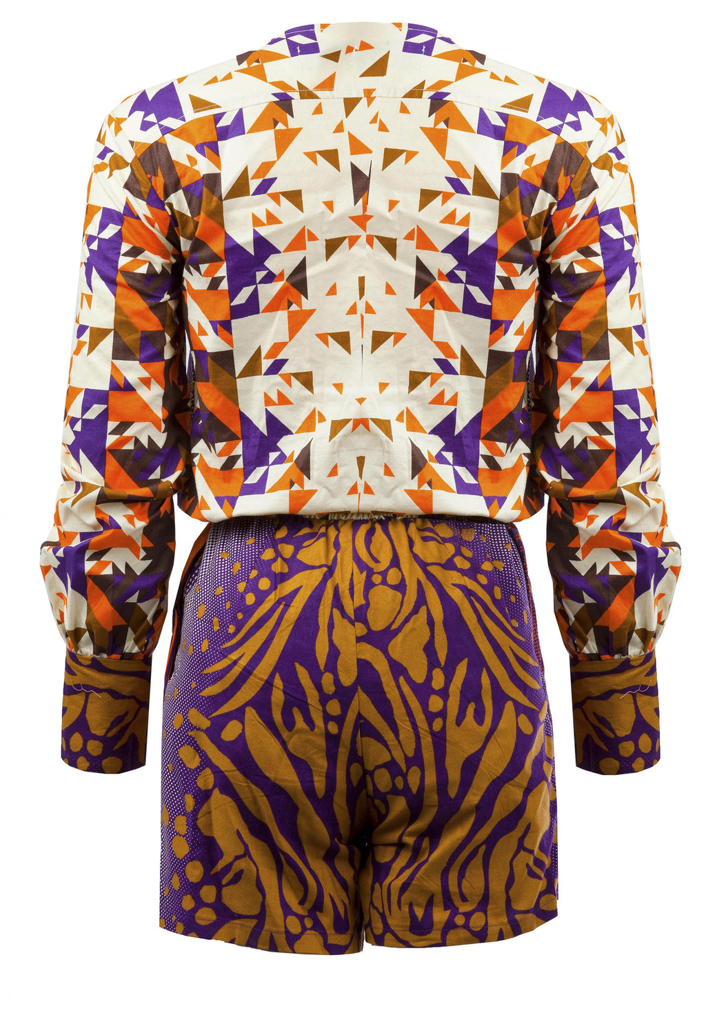 Pamela- Wrap front African print playsuit - OHEMA OHENE AFRICAN INSPIRED FASHION  - 2