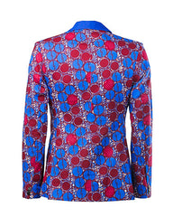 Joshua- 'Pluto' 2 Button African print jacket - OHEMA OHENE AFRICAN INSPIRED FASHION  - 2