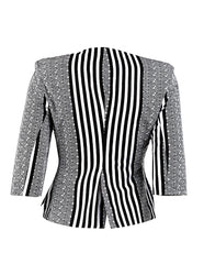 Gloria Black & White blazer - OHEMA OHENE AFRICAN INSPIRED FASHION  - 2