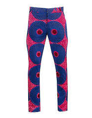 African print Men's skinny leg trousers - OHEMA OHENE AFRICAN INSPIRED FASHION  - 1