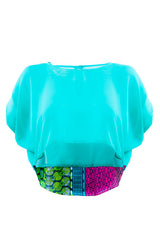 Joelle chiffon crop top - OHEMA OHENE AFRICAN INSPIRED FASHION  - 1