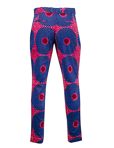 African print Men's skinny leg trousers - OHEMA OHENE AFRICAN INSPIRED FASHION  - 2