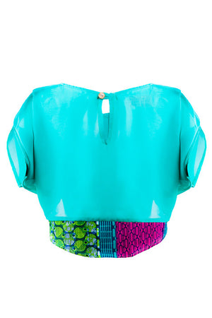 Joelle chiffon crop top - OHEMA OHENE AFRICAN INSPIRED FASHION  - 2