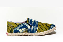 African Print Espadrille- Oh! Sam sugar cane - OHEMA OHENE AFRICAN INSPIRED FASHION  - 1