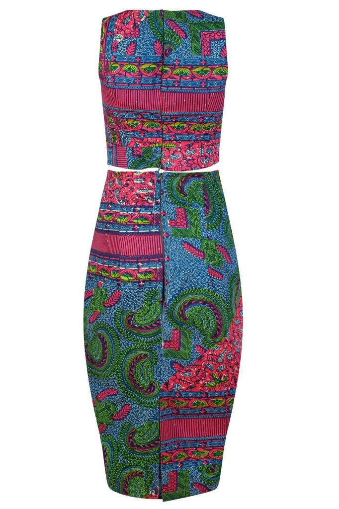 Two piece African print Co-Ord - OHEMA OHENE AFRICAN INSPIRED FASHION  - 2