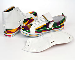 Kente Hi Top Sneakers-Oh! Nana Accra - OHEMA OHENE AFRICAN INSPIRED FASHION  - 2