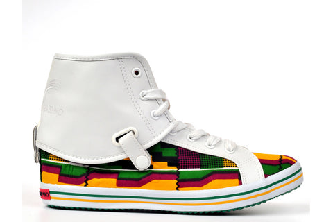 Kente Hi Top Sneakers-Oh! Nana Accra - OHEMA OHENE AFRICAN INSPIRED FASHION  - 1