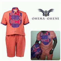 Alex short sleeve Men's jumpsuit - OHEMA OHENE AFRICAN INSPIRED FASHION  - 3