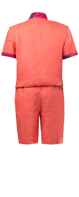 Alex short sleeve Men's jumpsuit - OHEMA OHENE AFRICAN INSPIRED FASHION  - 2