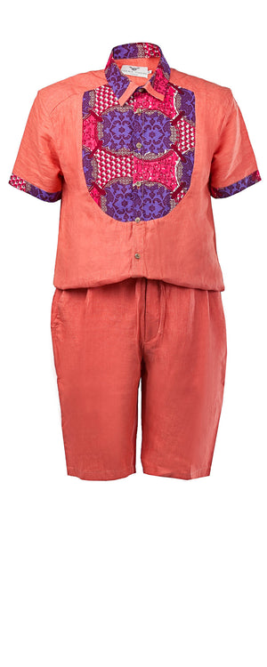 Alex short sleeve Men's jumpsuit - OHEMA OHENE AFRICAN INSPIRED FASHION  - 1