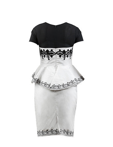 Black & White Ameila- Peplum dress