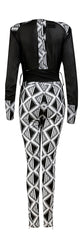 Arabaa- Ladies Chiffon African print jumpsuit - OHEMA OHENE AFRICAN INSPIRED FASHION  - 2