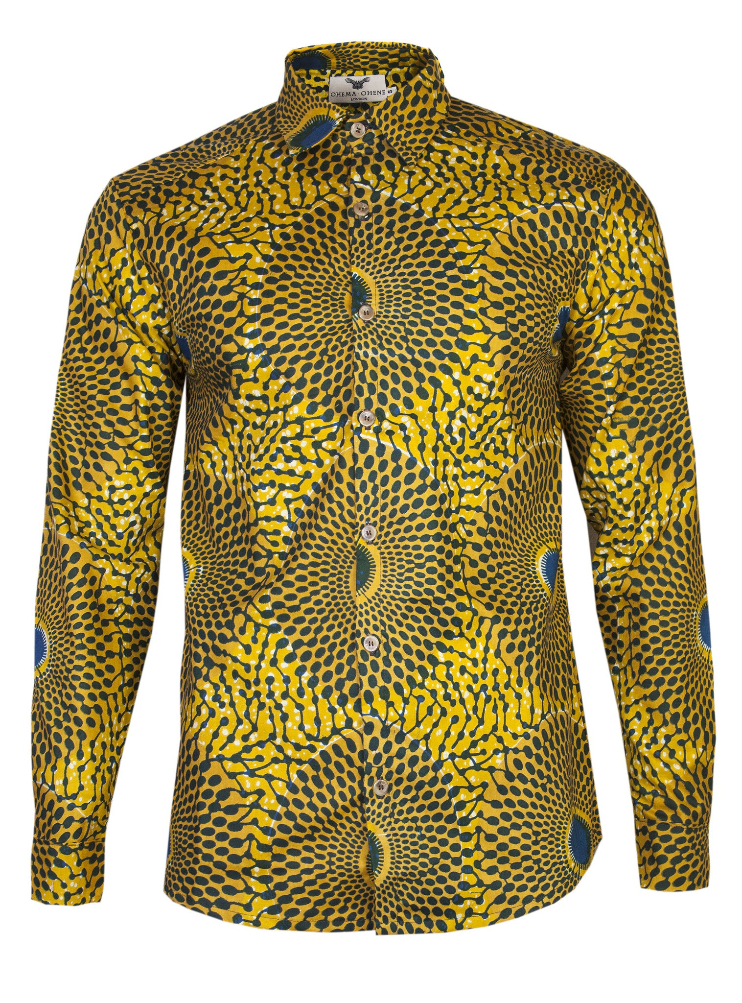 Long sleeve African print shirt Nsubra - OHEMA OHENE AFRICAN INSPIRED FASHION  - 1