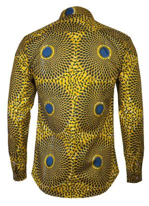 Long sleeve African print shirt Nsubra - OHEMA OHENE AFRICAN INSPIRED FASHION  - 2