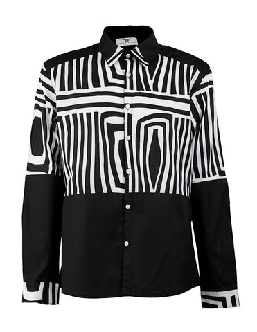 Asante Men's Black & White shirt HB