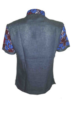 Asante short sleeve contrast back-Pluto - OHEMA OHENE AFRICAN INSPIRED FASHION  - 2