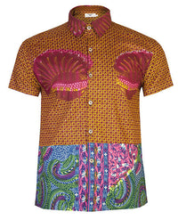 Men's SS African print shirt 'Kwadu' - OHEMA OHENE AFRICAN INSPIRED FASHION  - 1