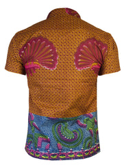 Men's SS African print shirt 'Kwadu' - OHEMA OHENE AFRICAN INSPIRED FASHION  - 2