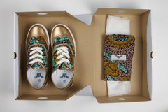 African Print Brogue Sneakers - OHEMA OHENE AFRICAN INSPIRED FASHION  - 1
