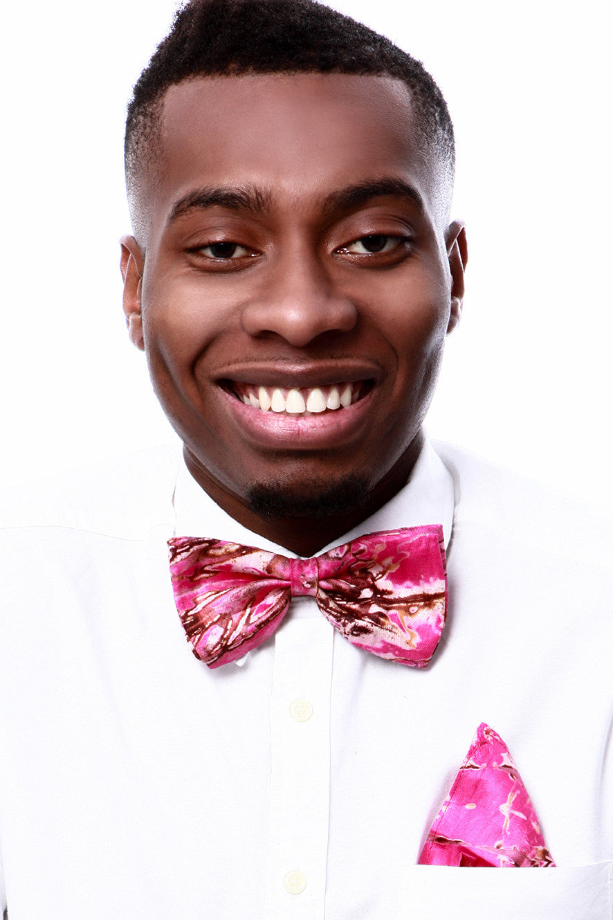 Men's Bow Ties & Pocket Square-Tie & Dye - OHEMA OHENE AFRICAN INSPIRED FASHION