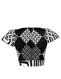 Black & White Georgina crop top - OHEMA OHENE AFRICAN INSPIRED FASHION  - 2