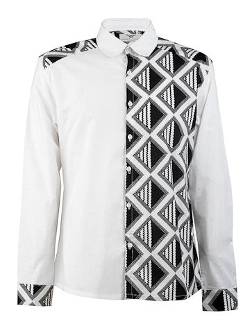 men's black and white shirt ohema ohene