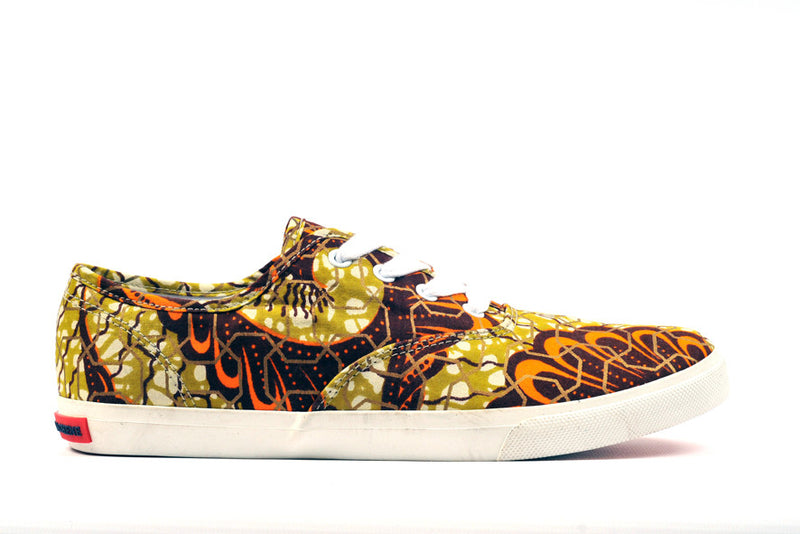 King Prawn Afrian Print Canvas Sneaker - OHEMA OHENE AFRICAN INSPIRED FASHION  - 1