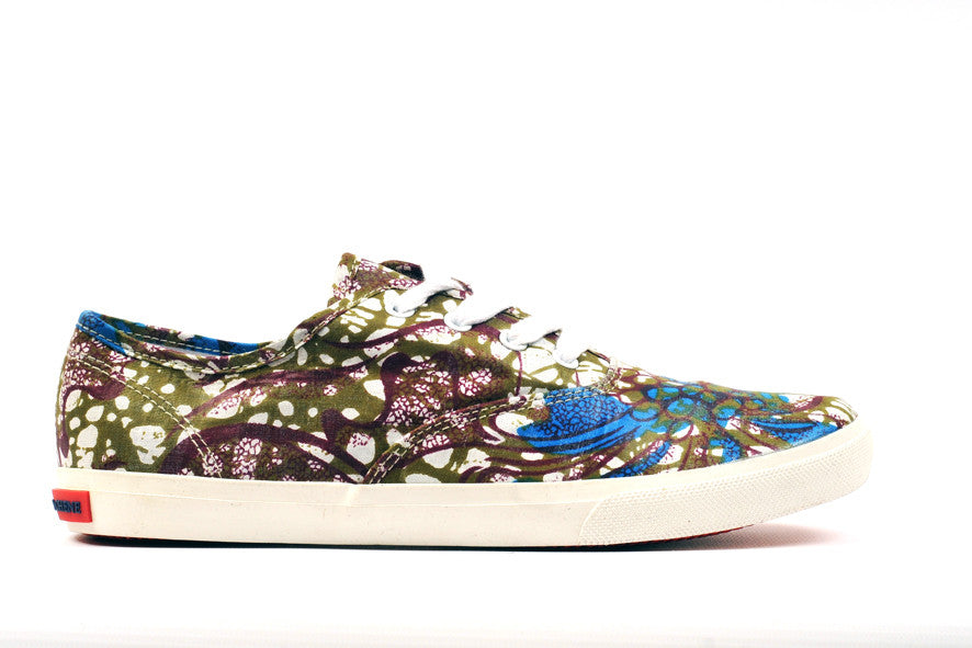 African Print Canvas Sneaker-Lotus - OHEMA OHENE AFRICAN INSPIRED FASHION  - 1