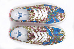 African Print Canvas Sneaker-Lotus - OHEMA OHENE AFRICAN INSPIRED FASHION  - 2