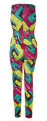 Doris- African print jumpsuit 'Pashpa' - OHEMA OHENE AFRICAN INSPIRED FASHION  - 2