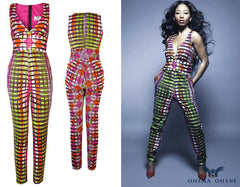Doris- African print jumpsuit - OHEMA OHENE AFRICAN INSPIRED FASHION  - 3