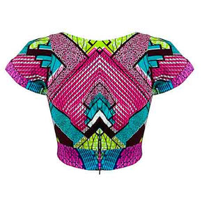 Georgina crop top - OHEMA OHENE AFRICAN INSPIRED FASHION  - 2
