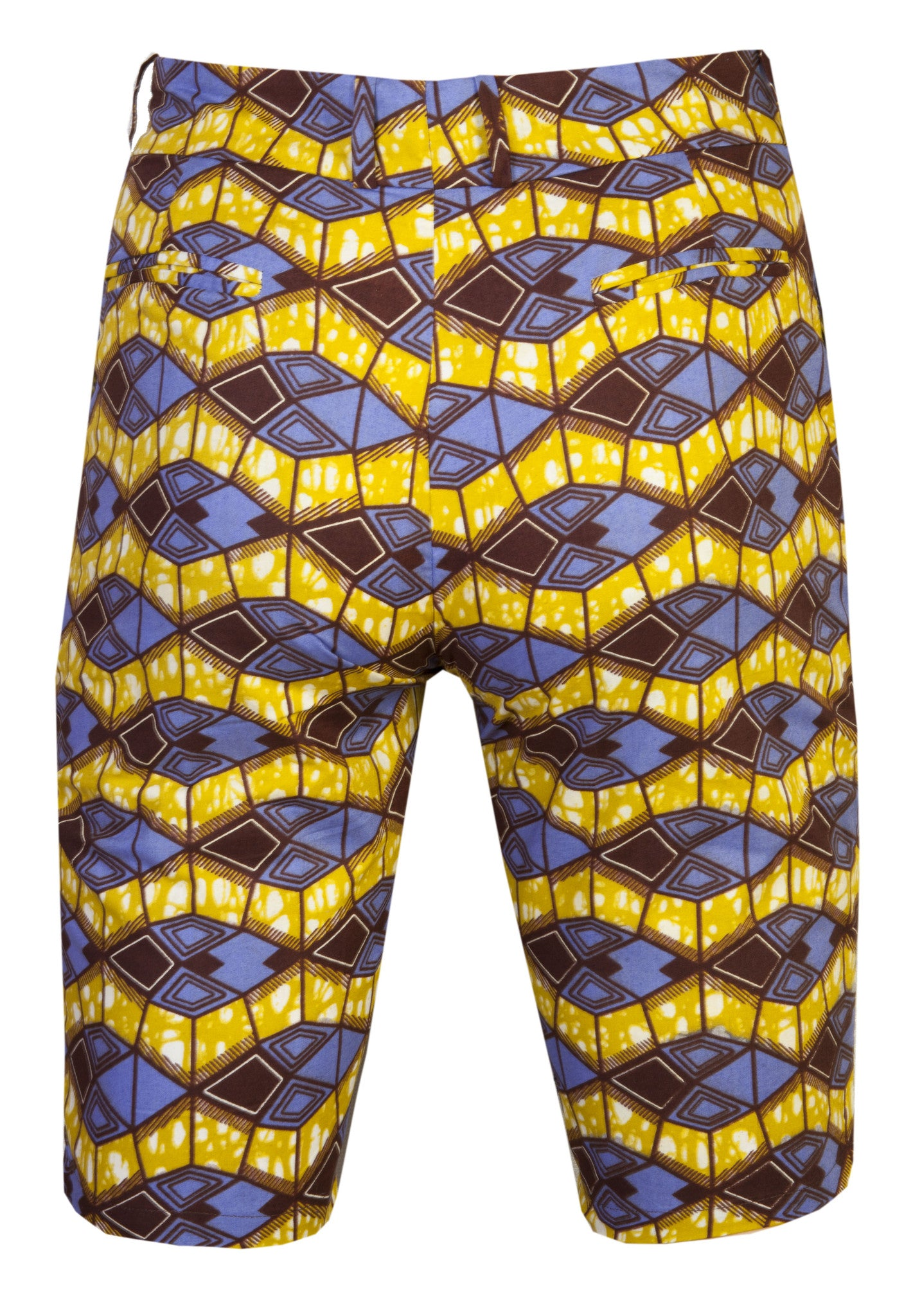 Jamie 'Azzme' Mens Fitted shorts - OHEMA OHENE AFRICAN INSPIRED FASHION  - 2