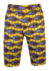Jamie 'Azzme' Mens Fitted shorts - OHEMA OHENE AFRICAN INSPIRED FASHION  - 1