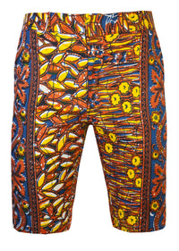 Jamie Men's Fitted African print shorts-'Ewasi' - OHEMA OHENE AFRICAN INSPIRED FASHION  - 1