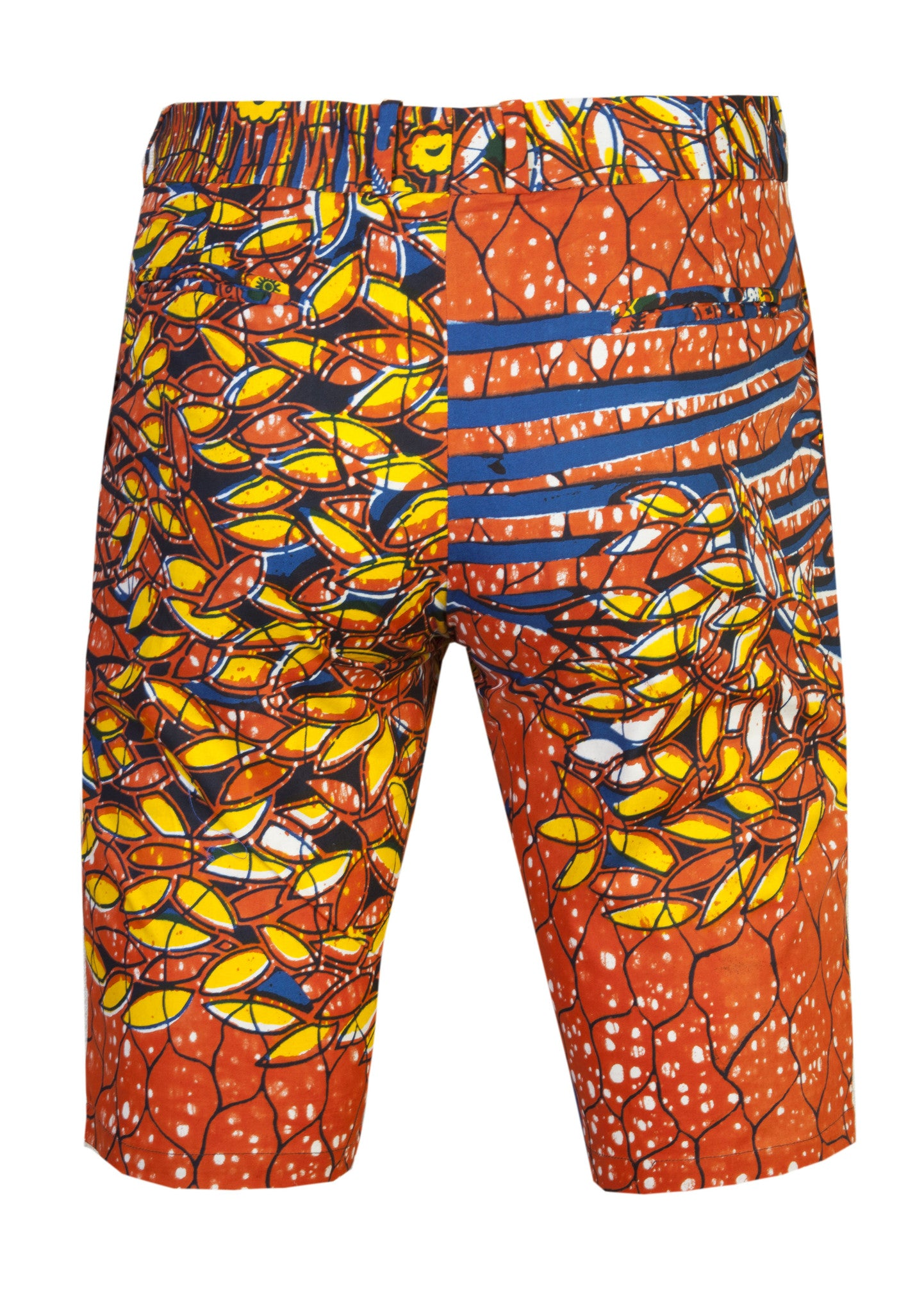 Jamie Men's Fitted African print shorts-'Ewasi' - OHEMA OHENE AFRICAN INSPIRED FASHION  - 2