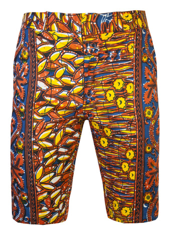 Jamie Men's Fitted African print shorts-'Ewasi'