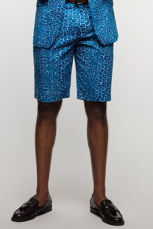 African print shorts