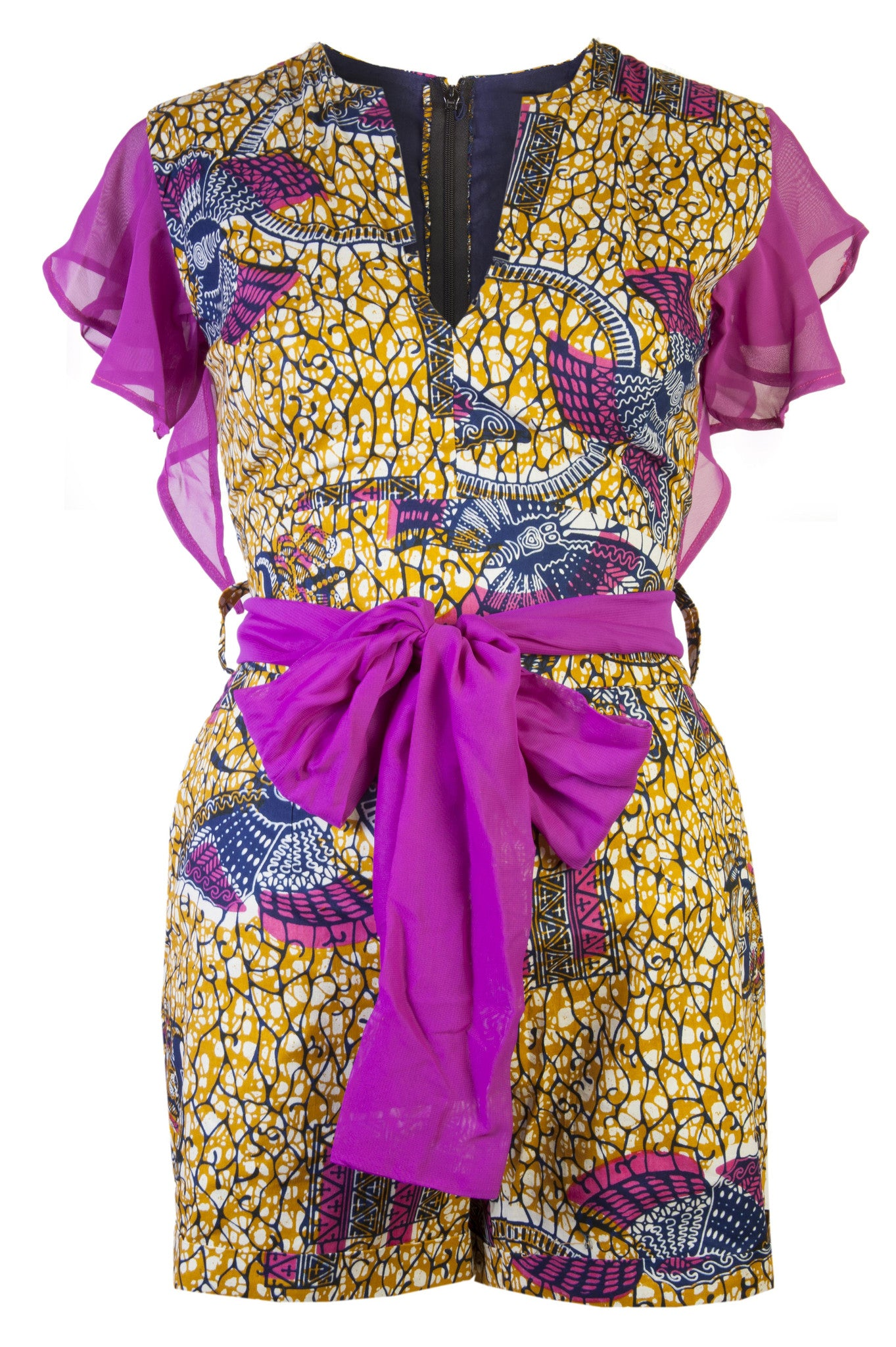 Joclyn- African print playsuit - OHEMA OHENE AFRICAN INSPIRED FASHION