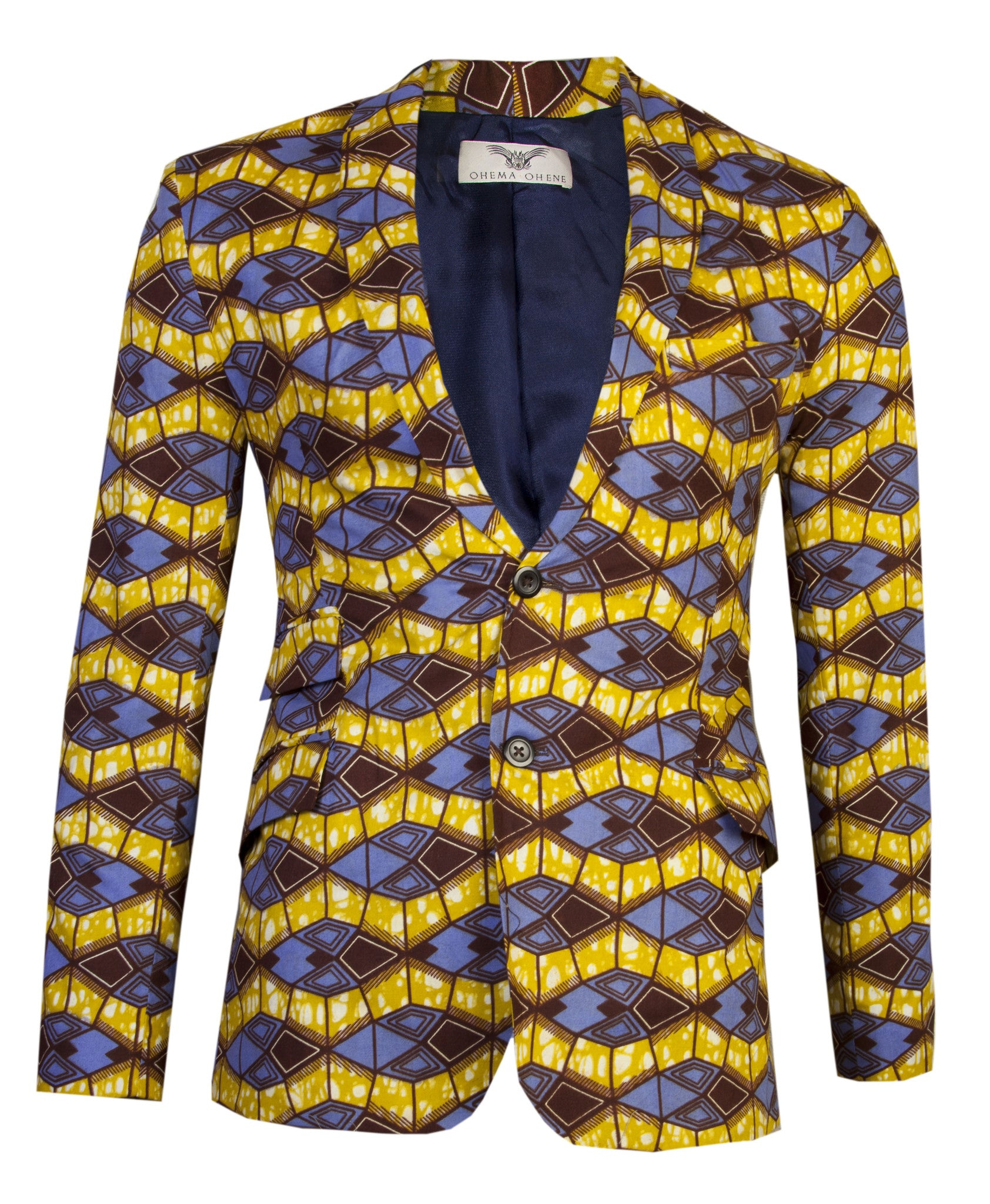 Joshua 2 button African print blazer 'Azzme' - OHEMA OHENE AFRICAN INSPIRED FASHION  - 1