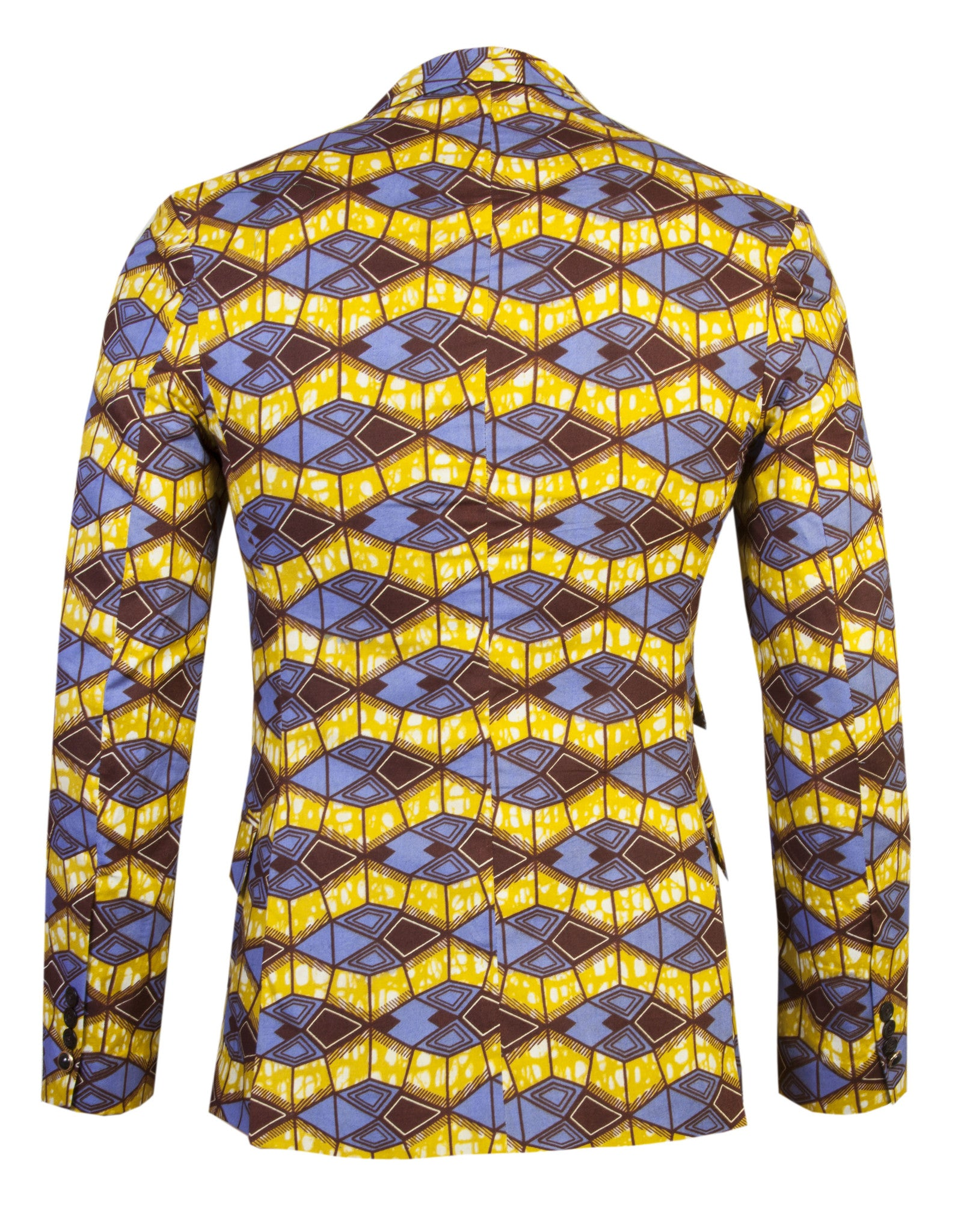Joshua 2 button African print blazer 'Azzme' - OHEMA OHENE AFRICAN INSPIRED FASHION  - 2