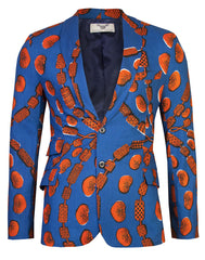 Joshua Mens Two button Blazer-Love chain - OHEMA OHENE AFRICAN INSPIRED FASHION  - 1